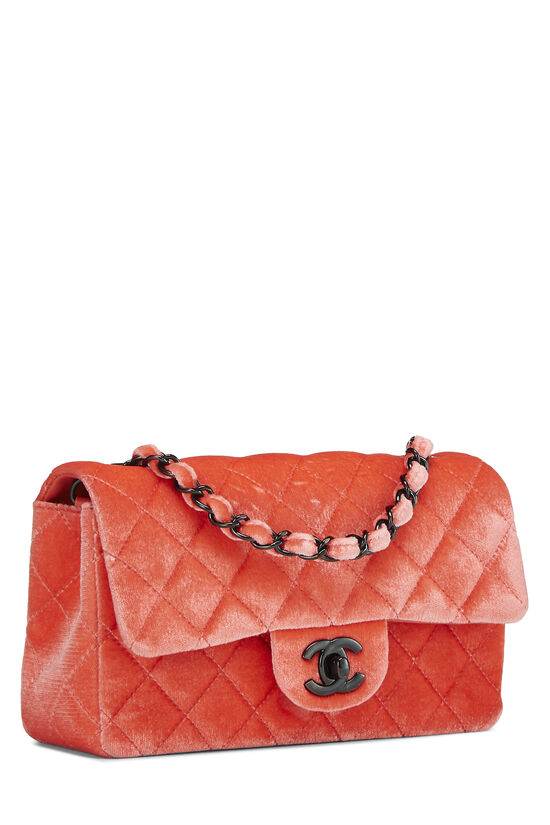 Coral Quilted Velvet Half Flap Small, , large image number 0