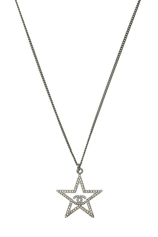 Gunmetal & Crystal Star Necklace, , large image number 1