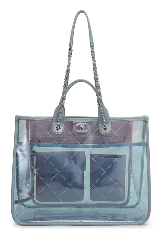 Multicolor Quilted Vinyl Coco Splash Shopping Tote Medium, , large image number 1