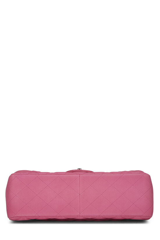 Pink Quilted Caviar New Classic Double Flap Jumbo, , large image number 4