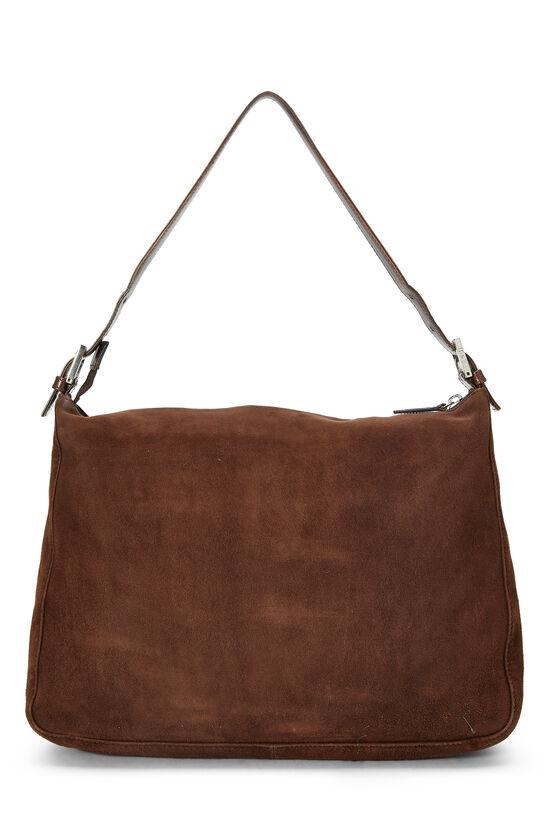 Brown Suede Shoulder Bag, , large image number 3