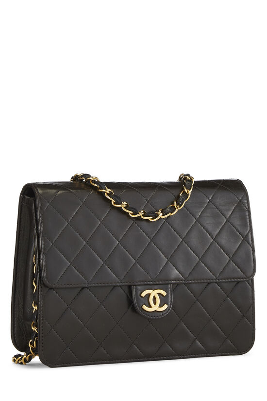 Black Quilted Lambskin Ex Flap Small, , large image number 1