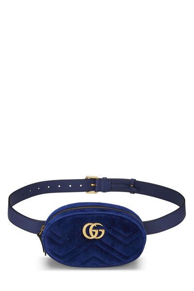 Blue Velvet Marmont Belt Bag Mini