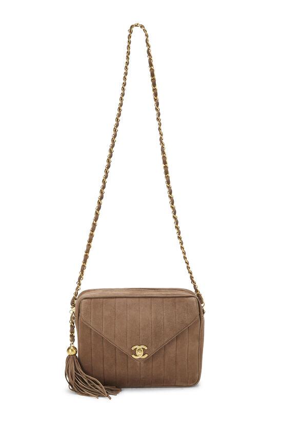 Brown Vertical Suede Pocket Camera Bag Medium, , large image number 6