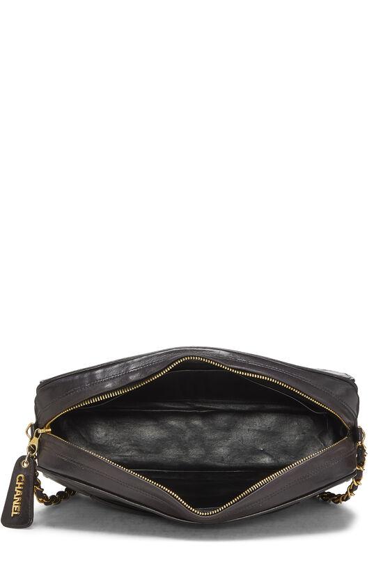 Black Quilted Lambskin Shoulder Bag Large, , large image number 5