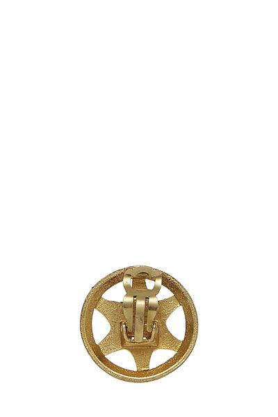 Gold Star Badge Earrings, , large