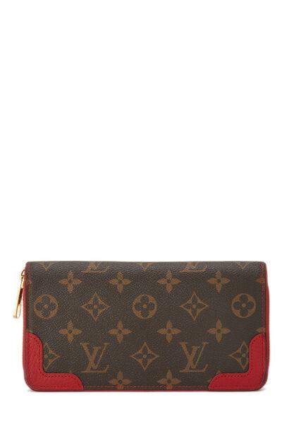 Red Monogram Canvas Retiro Zippy Continental Wallet
