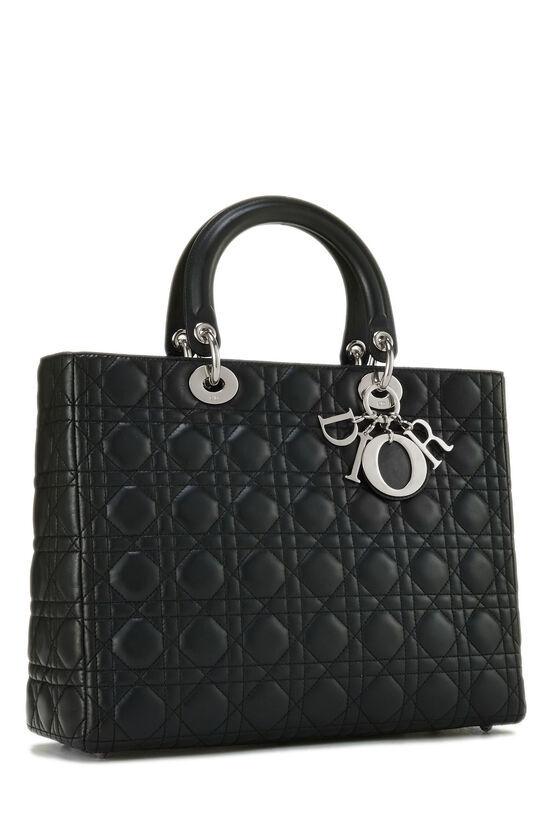 Black Cannage Quilted Lambskin Lady Dior Large, , large image number 2