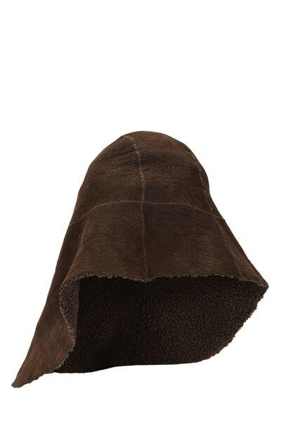 Brown Shearling Hat