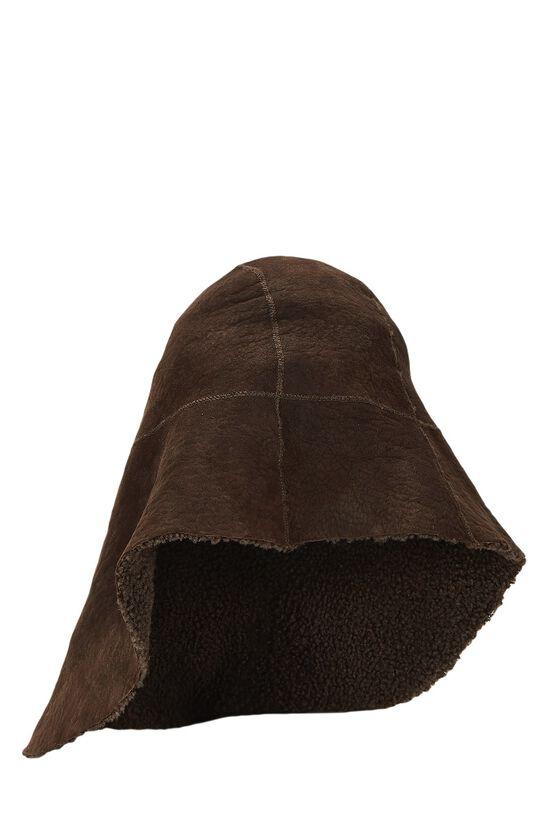 Brown Shearling Hat, , large image number 0