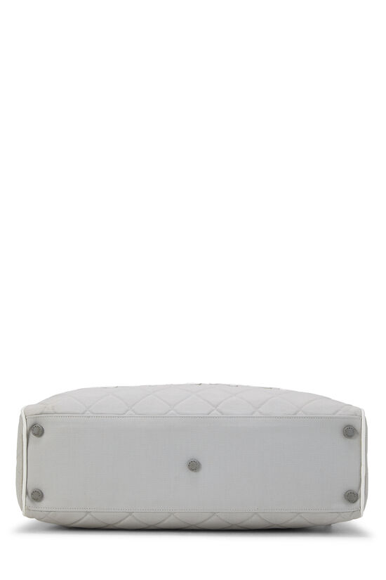Grey Quilted Canvas Bowler Small, , large image number 4