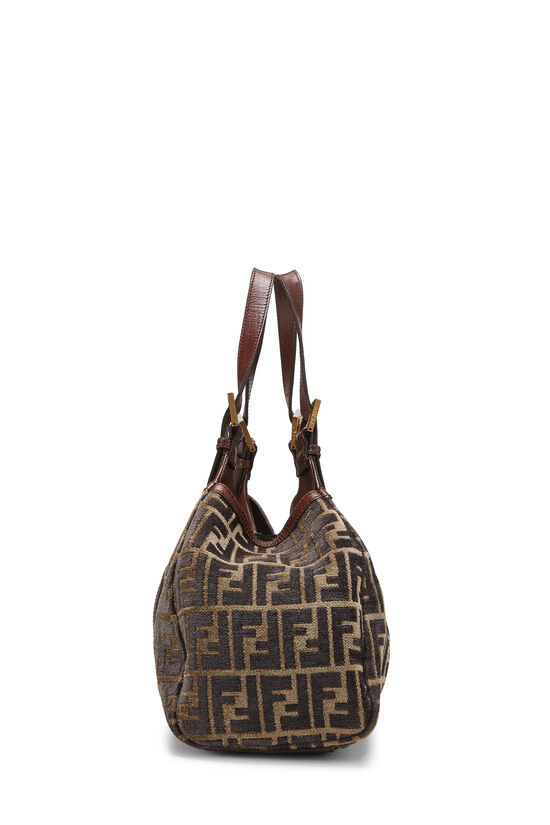 Brown Zucca Velour Borsa Sporty, , large image number 2