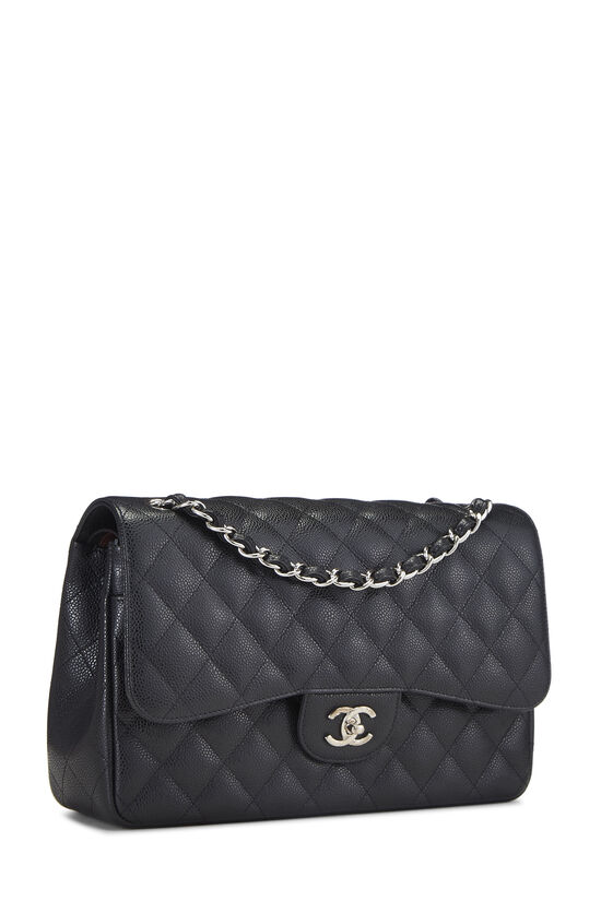 Black Quilted Caviar New Classic Double Flap Jumbo, , large image number 1