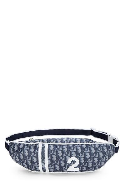 Navy Trotter Nylon Varsity Belt Bag