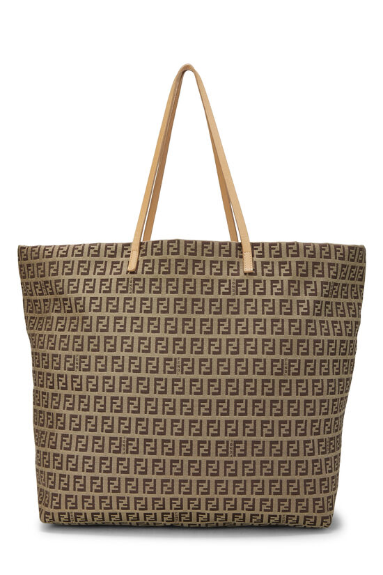 Beige Zucchino Canvas Zip Tote Large, , large image number 3