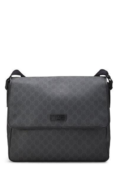 Black Original GG Supreme Canvas Messenger Bag Large