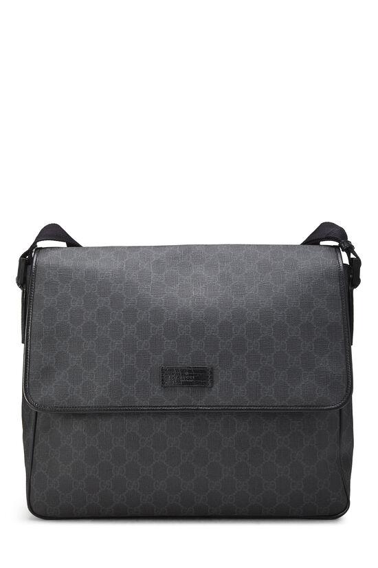 Black Original GG Supreme Canvas Messenger Bag Large, , large image number 0