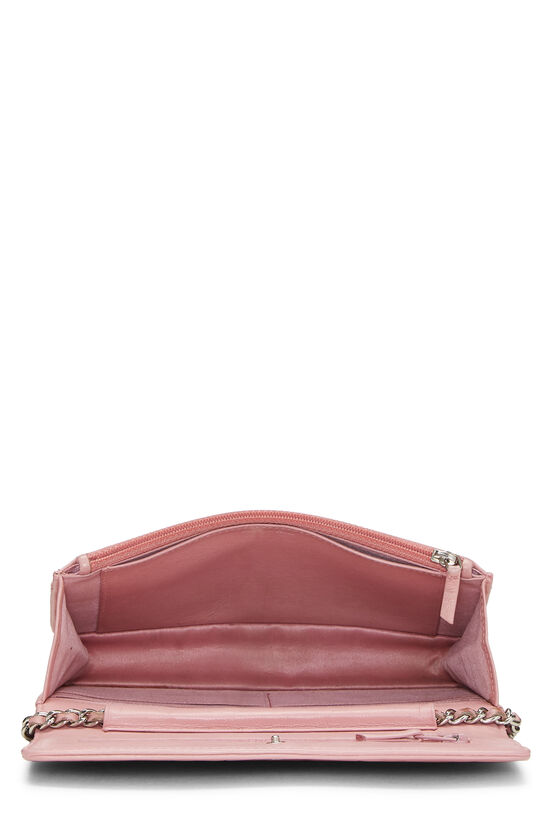 Pink Lambskin Camellia Wallet on Chain (WOC), , large image number 6