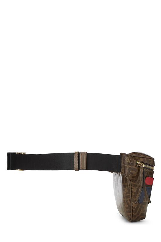 Fendi x Fila Brown Coated Zucca Spalmati Mania Belt Bag, , large image number 2