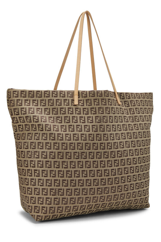 Beige Zucchino Canvas Zip Tote Large, , large image number 1
