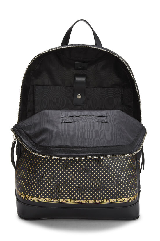 Black Leather Guccy Moon & Stars Magnetismo Backpack, , large image number 5