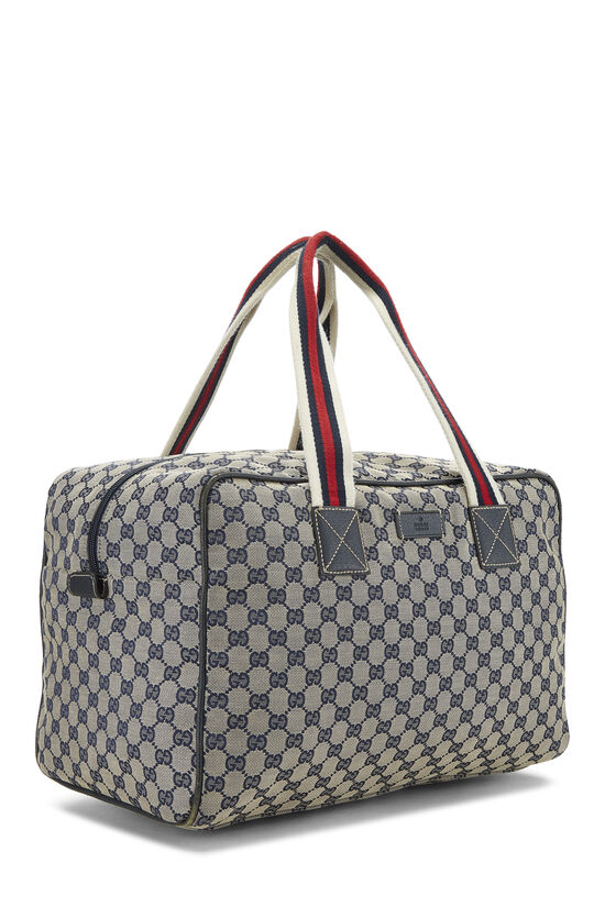 Navy GG Canvas Carry On Duffle Large, , large image number 1