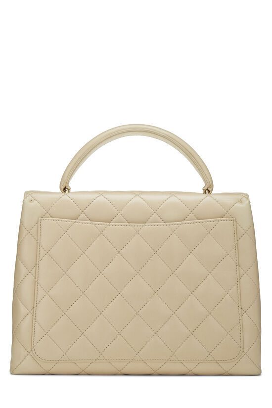 Beige Quilted Lambskin Kelly Medium, , large image number 3