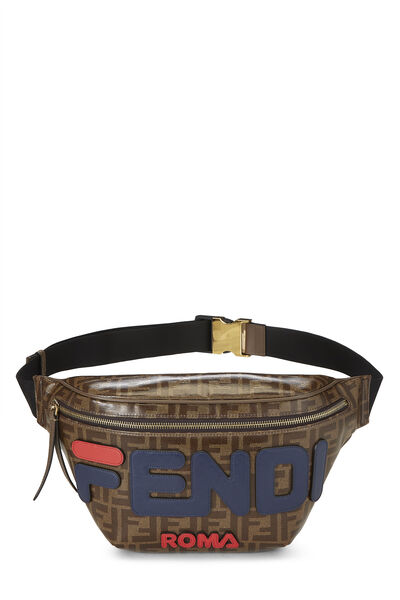 Fendi x Fila Brown Coated Zucca Spalmati Mania Belt Bag