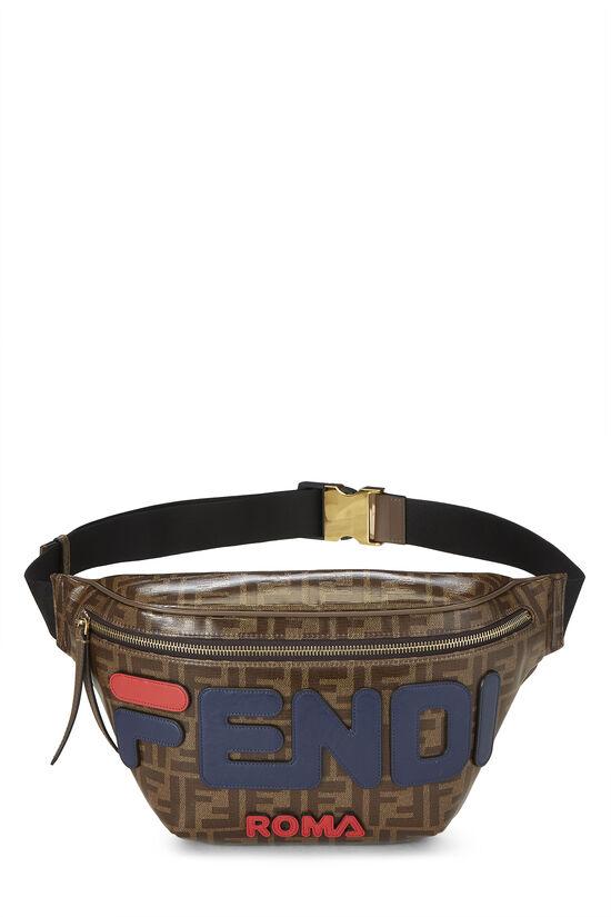 Fendi x Fila Brown Coated Zucca Spalmati Mania Belt Bag, , large image number 0