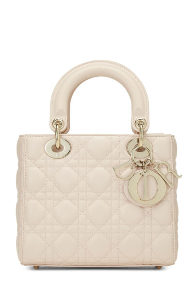 Pink Cannage Quilted Lambskin Lady Dior Small
