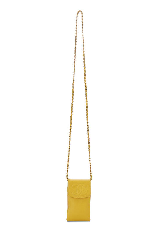 Yellow Caviar Timeless 'CC' Crossbody Pouch, , large image number 6