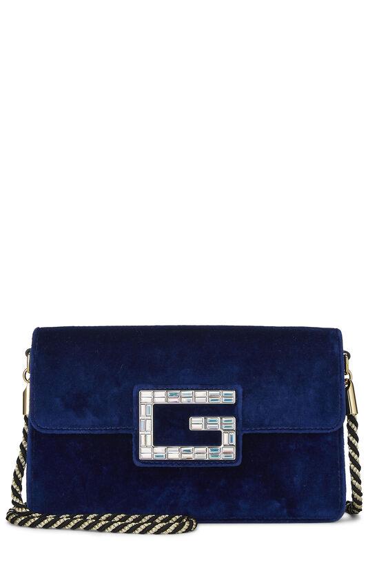 Blue Velour Broadway Crossbody Mini, , large image number 0