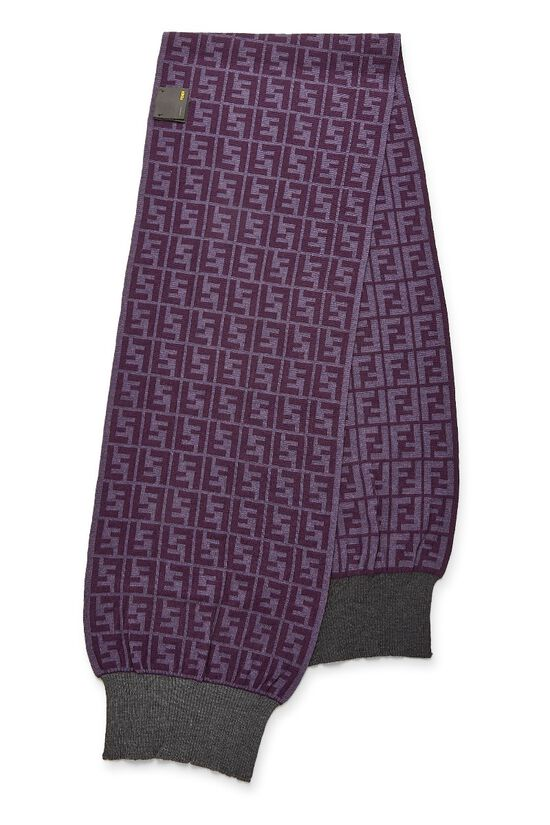 Purple Zucca Wool Scarf, , large image number 1