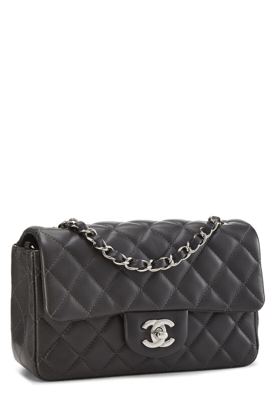 Charcoal Quilted Lambskin Classic Flap Mini, , large image number 1