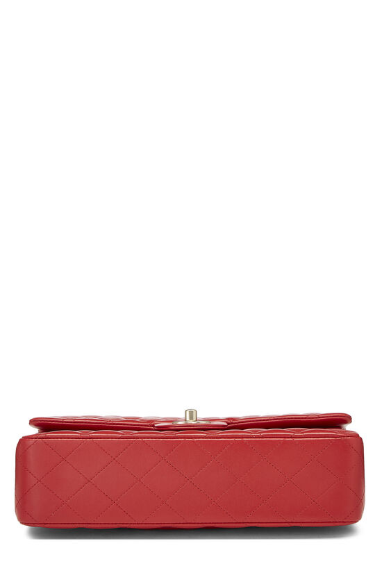 Red Quilted Lambskin Classic Double Flap Medium, , large image number 4