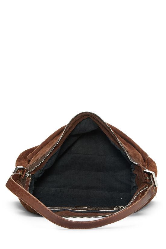 Brown Suede Shoulder Bag, , large image number 5
