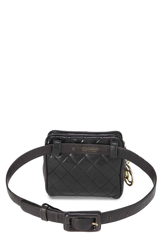 Black Quilted Lambskin Belt Bag 30, , large image number 3