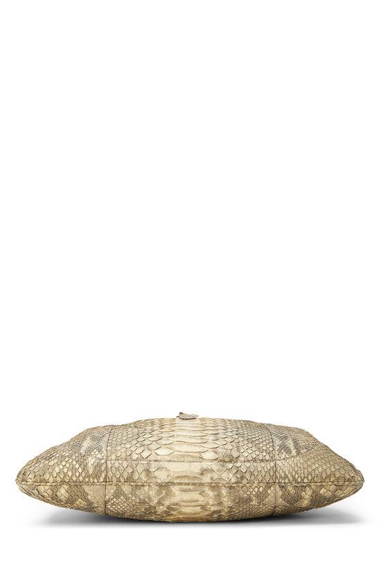 Beige Python Jackie Hobo XL, , large image number 4