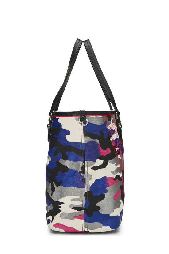 Anselm Reyle x Christian Dior Multicolor Camouflage Coated Canvas Tote, , large image number 2