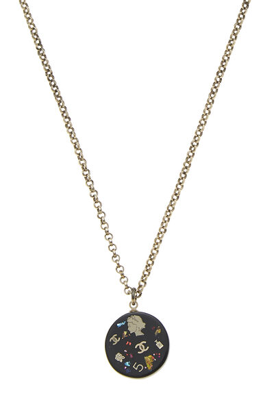 Black Acrylic Lucky Charms Necklace, , large