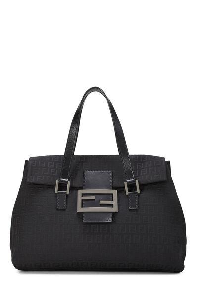 Black Zucchino Canvas Handbag Large