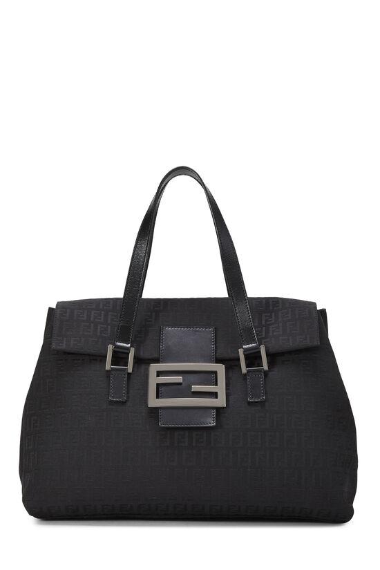 Black Zucchino Canvas Handbag Large, , large image number 0