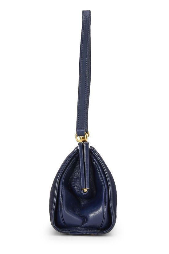 Navy Pony Hair Handbag, , large image number 2