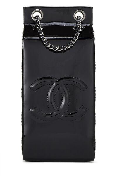 Black Patent Leather Milk Carton Bag