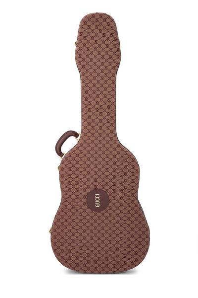 Burgundy GG Canvas Ophidia Guitar Case