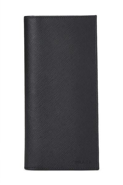 Black Saffiano Long Wallet
