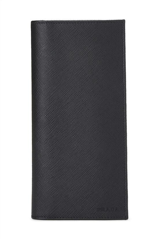 Black Saffiano Long Wallet, , large image number 0