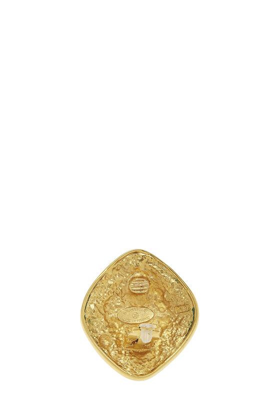Gold Filigree 'CC' Earrings Large, , large image number 2