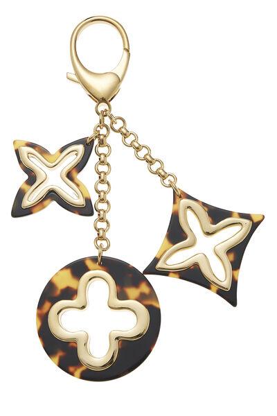 Gold & Tortoiseshell Insolence Bag Charm, , large