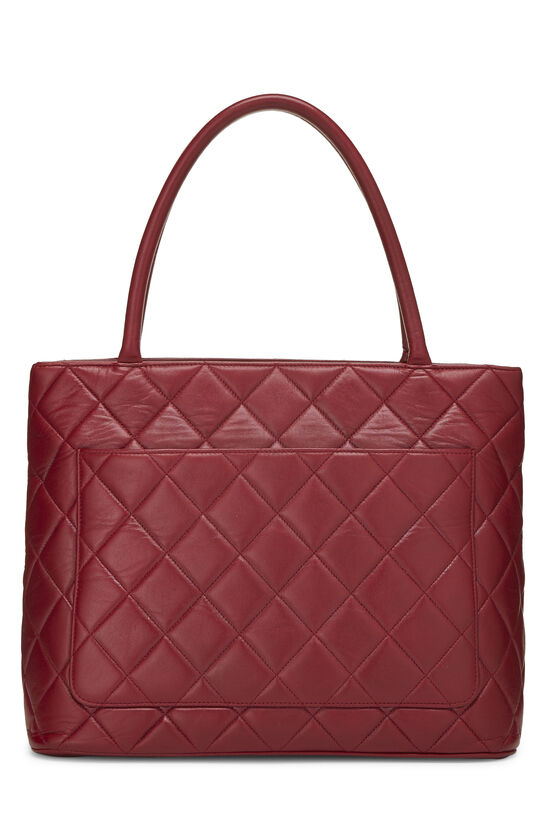 Red Quilted Lambskin Medallion Tote, , large image number 3